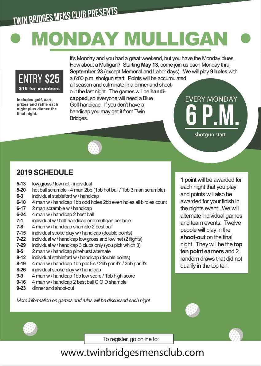 Event Registration - Men's Club - Twin Bridges Golf Club